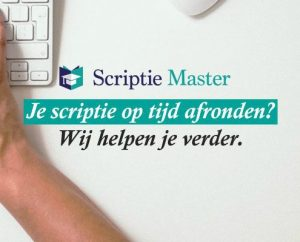 of gebruik scriptiemaster voor hulp bij de thesis/scriptie